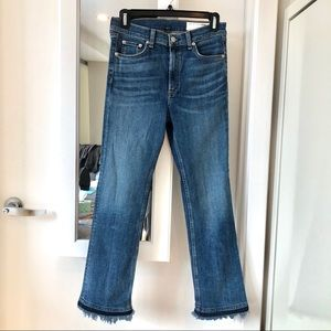 Rag & Bone High Rise Crop Flare Jeans Size 27
